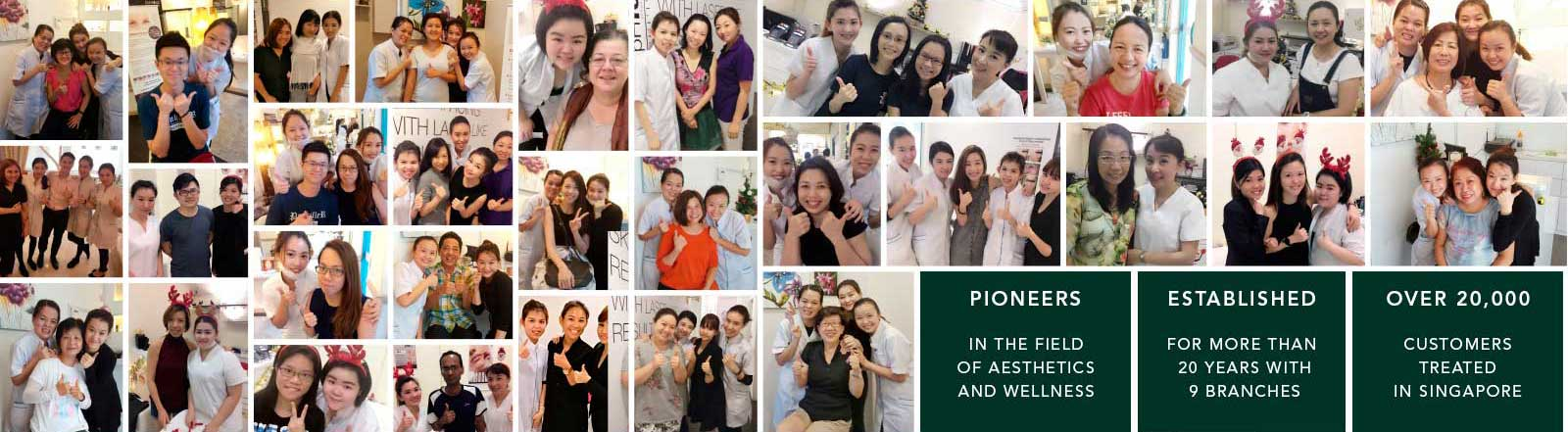 Having served more than 30,000+ satisfied customers and with over 20 years of experience, our results-driven aesthetics group ensures 100% safety and effectiveness on all our procedures. Our 9 branches are located islandwide in Singapore Orchard, Dhoby Ghaut, Bishan, Tampines & Clementi and in Western Australia.